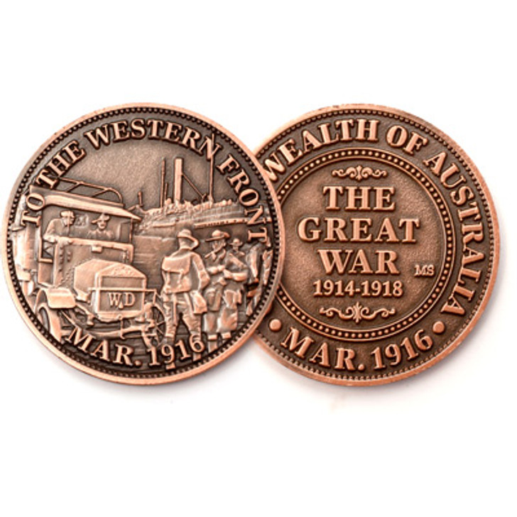 To The Western Front 1916 Commemorative Penny
