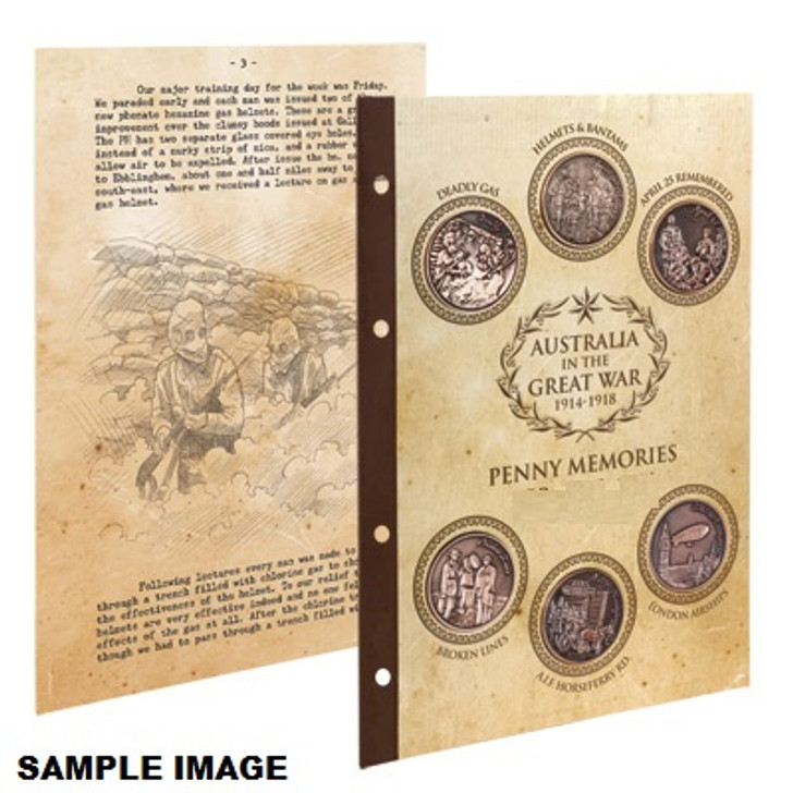 Great War 1916 S3 Penny Set w/Diary pages