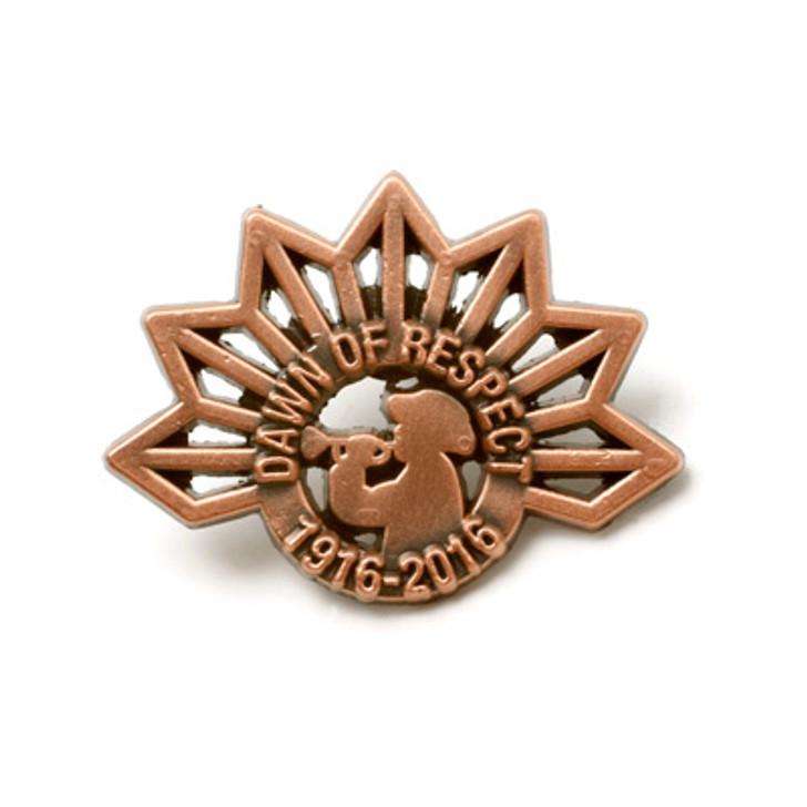 April 25 1916-2016 Dawn Of Respect Commemorative Lapel Pin