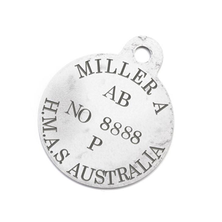 xFREE Able Seaman Miller H.M.A.S. Australia Bear ID Tag