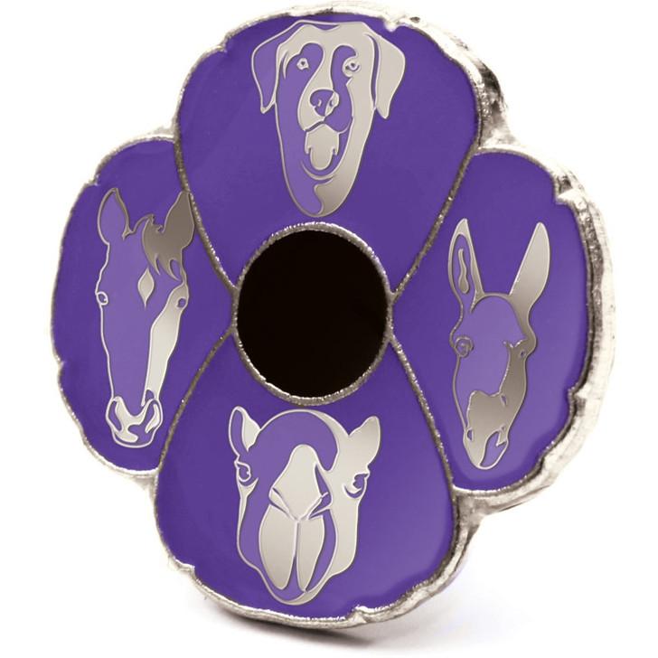 Purple Poppy Silhouette Badge