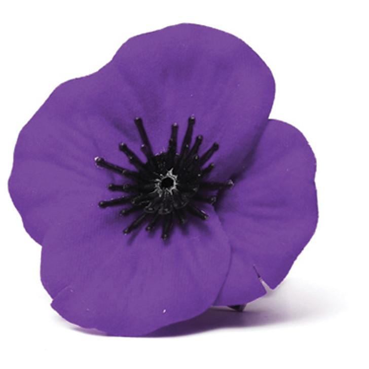Material Purple Poppy Badge
