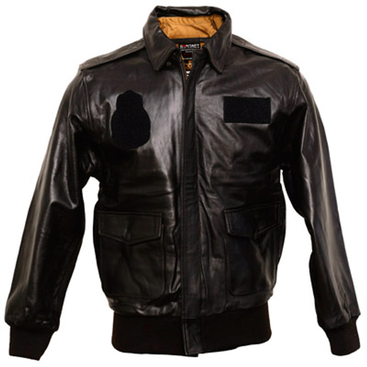 Air Force A2 Leather Flight Jacket W/Patches