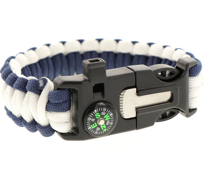 Paracord Bracelet Navy Blue and White