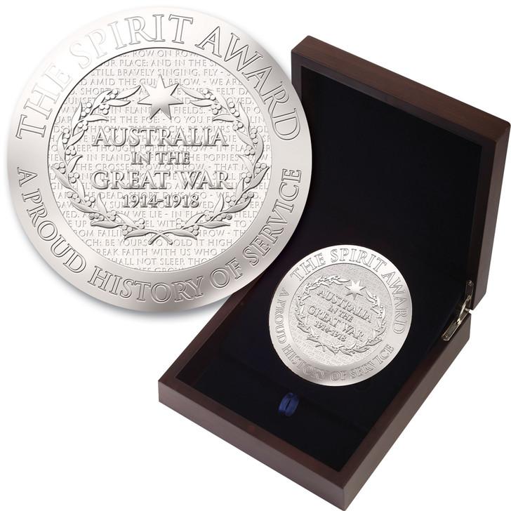 The Spirit Award 110mm Medallion In Box