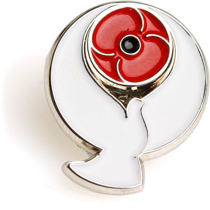 Poppy Peace Dove Badge