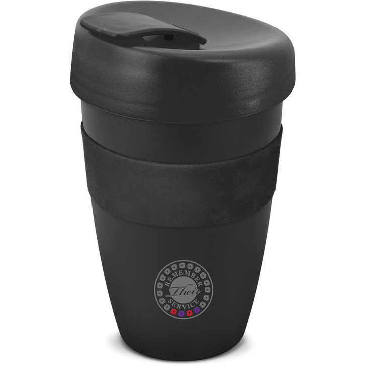 Remember Their Service Red & Purple Poppy Reusable Coffee Cup