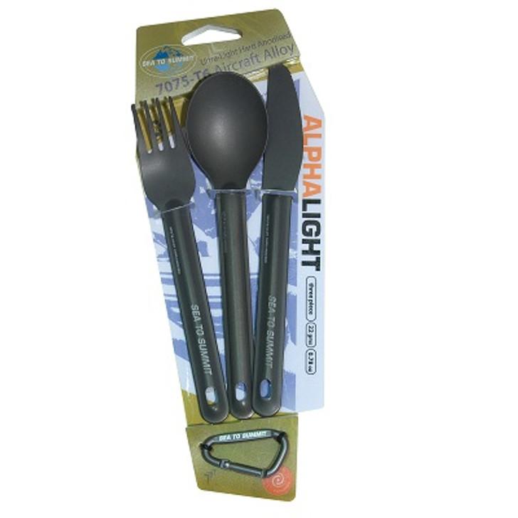 AlphaLight Cutlery Set 3pc Knife/Fork/Spoon
