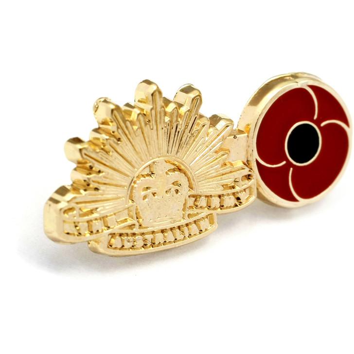 Army Poppy Lapel Pin