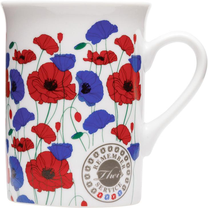 Remember Their Service Red & Purple Poppy Mug A