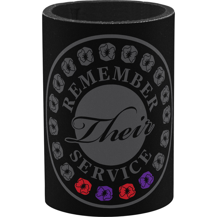 Remember Their Service Red & Purple Poppy Drink Cooler A