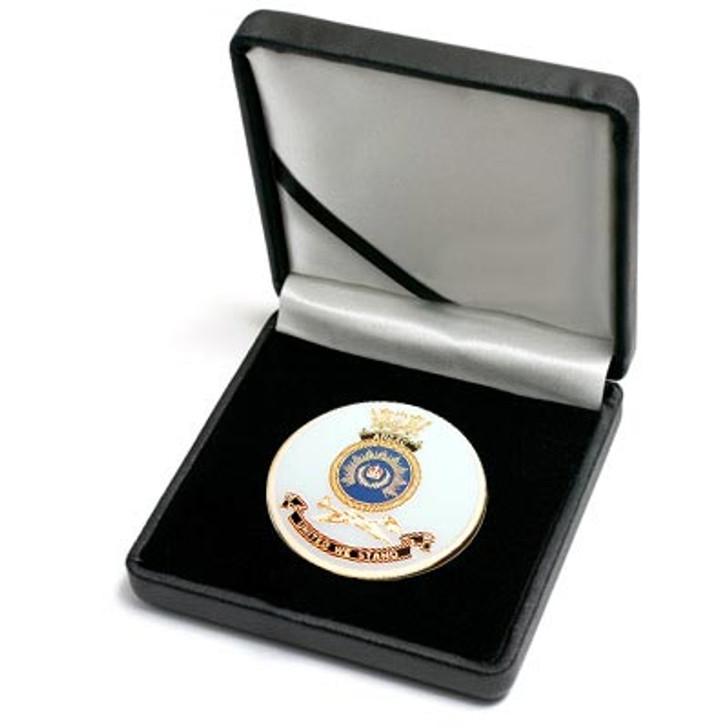HMAS Anzac Medallion In Case
