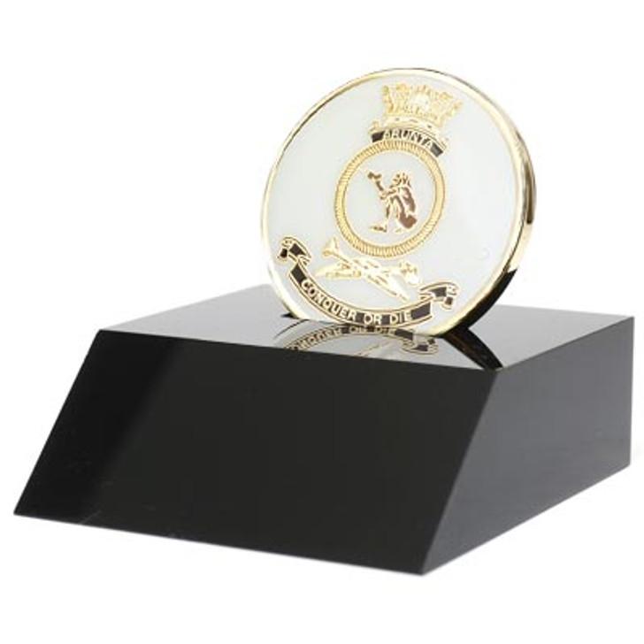 HMAS Arunta Medallion In Stand