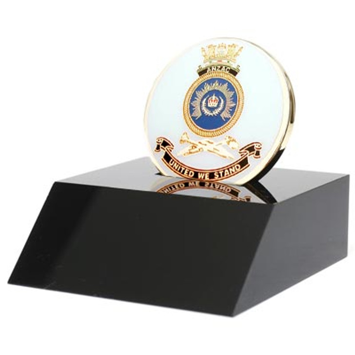 HMAS Anzac Medallion In Stand