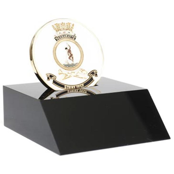 HMAS Parramatta Medallion In Stand