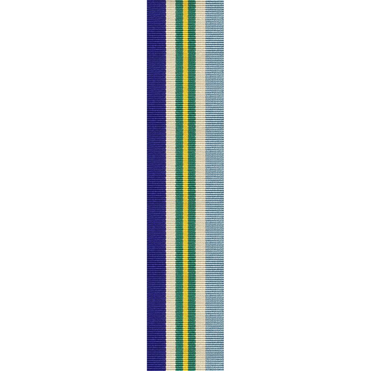 Australian Service Medal 45-75 Miniature (ribbon only) per cm
