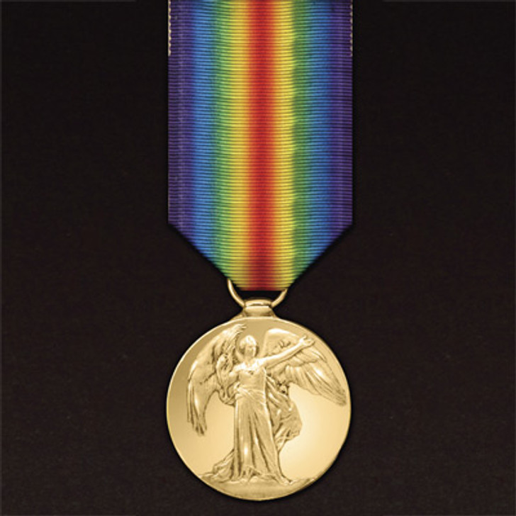 Victory Medal Miniature (medal & ribbon)