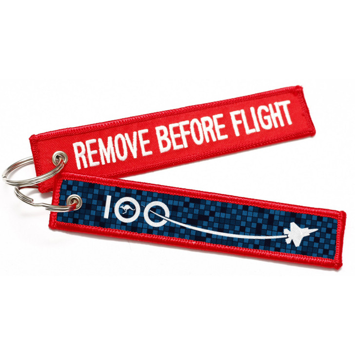 Air Force 100 Remove before Flight Key Tag