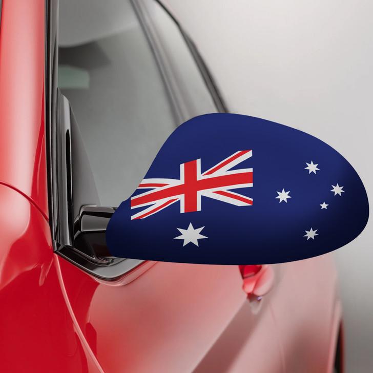 Australian Flag Fabric Car Mirror Covers