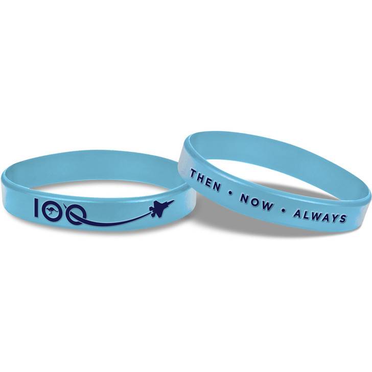 Air Force 2021 Navy & Light Blue Embossed Wristband