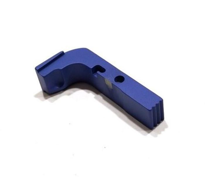 CDS Aluminum Extended Magazine Release For GEN 1-3 Glock Blue Cerakote