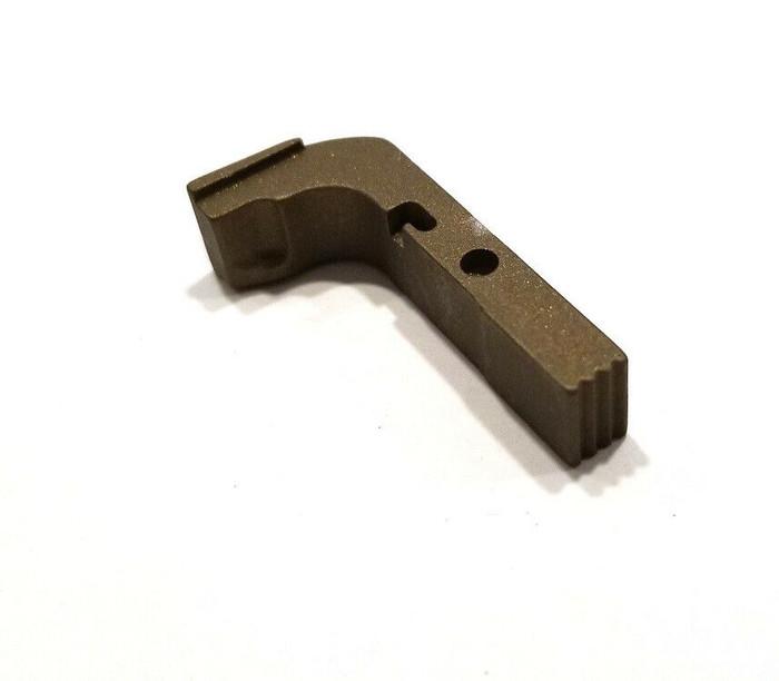 CDS Aluminum Extended Magazine Release For GEN 1-3 Glock Burnt Bronze Cerakote