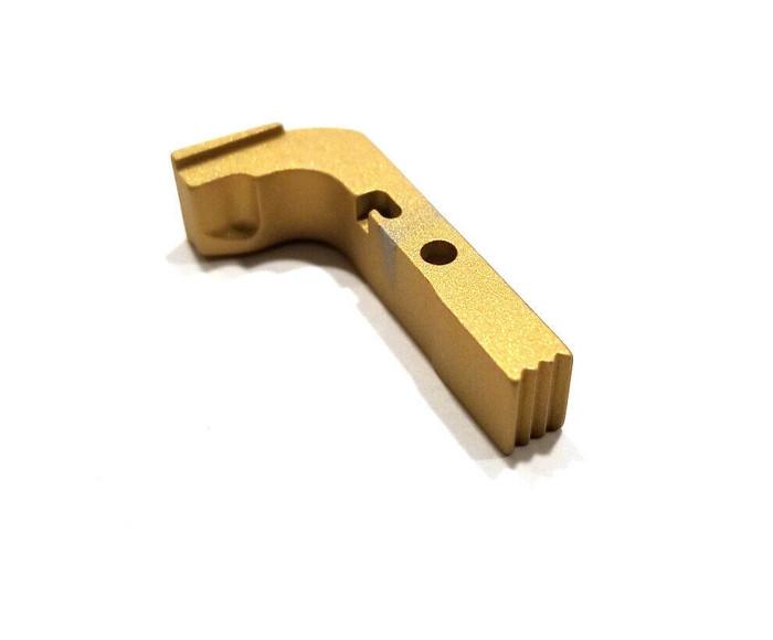 CDS Aluminum Extended Magazine Release For GEN 1-3 Glock Gold Cerakote
