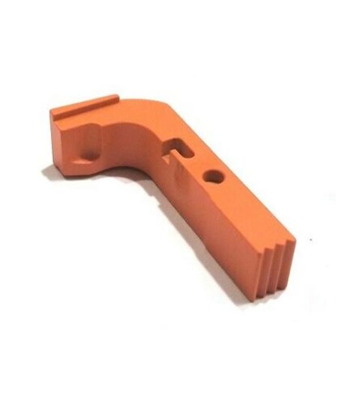 CDS Aluminum Extended Magazine Release For GEN 1-3 Glock Hi-Viz Orange Cerakote
