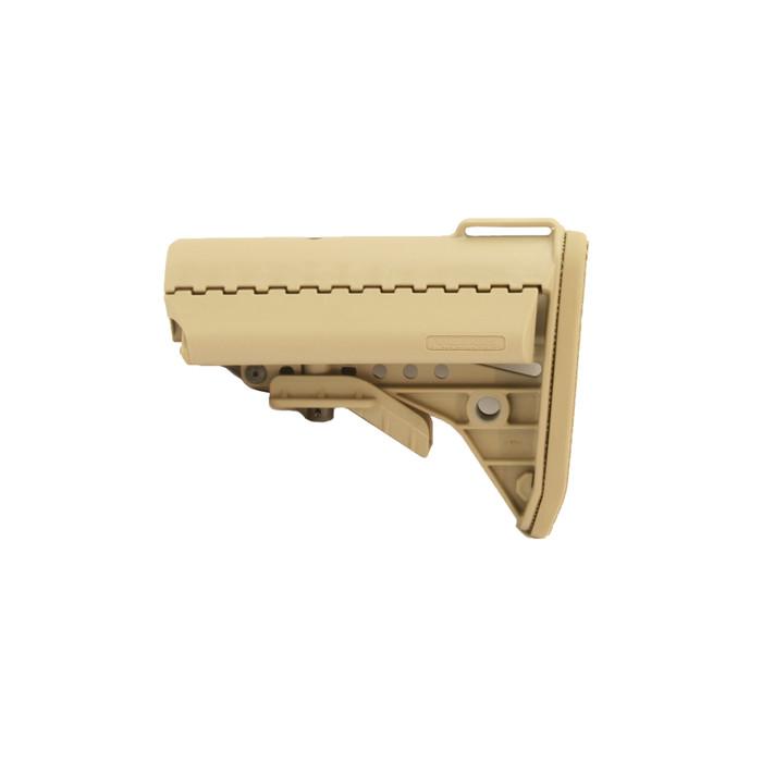 VLTOR IMOD- Improved Modular Stock For AR15/M4 Mil-Spec Tan