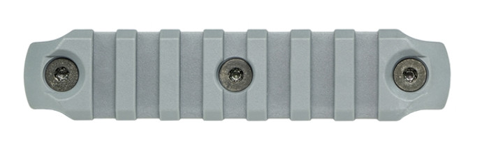 Bravo Company KeyMod Picatinny Rail Section - Nylon - 4 Inch Wolf Gray