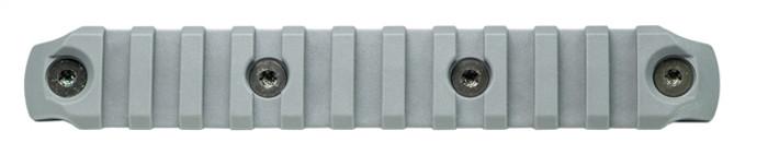 Bravo Company KeyMod Picatinny Rail Section - Nylon - 5.5 Inch Wolf Gray