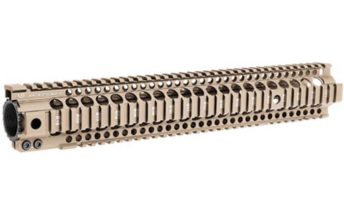 """Midwest Ind. T-Series One Piece Free Float Handguard 15"""" FDE"""