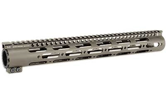 """Midwest Ind. SS-Series One Piece Free Float Handguard 15"""" FDE"""
