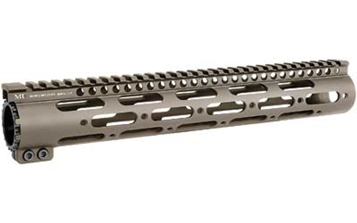 """Midwest Ind. SS-Series One Piece Free Float Handguard 12"""" FDE"""
