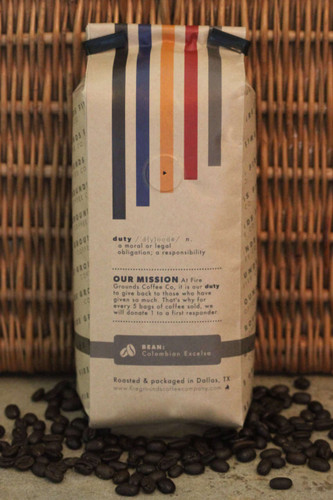 For every 5 bags sold, Fire Grounds Coffee Company will donate 1 to a First Responder.