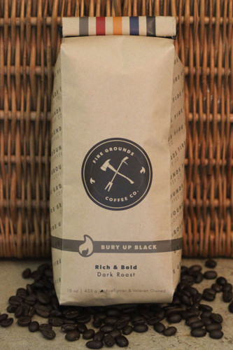 Bury Up Black is our darkest roast air roasted at 460 degrees. Chocolaty and Toasted notes.