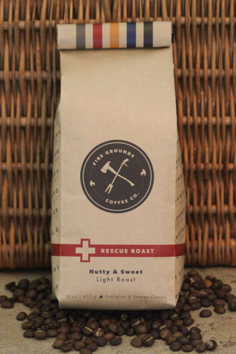 Rescue Roast is our premiere light roast coffee. Nutty and sweet notes. 16oz / 1lb