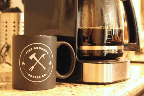 It also is the best way to hold some Fire Grounds Coffee Company Coffee