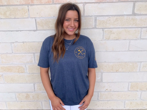 Fire Grounds Perfect Tri Series Blue and Gold Tee