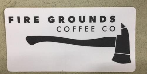 Fire Grounds Axe Sticker
