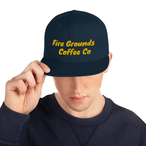 Fire Grounds Coffee Snapback Hat