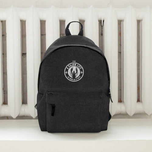 A CAJUN LIFE® Embroidered Backpack