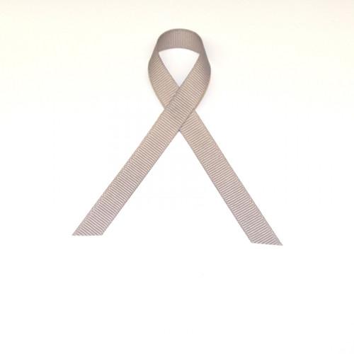 "3/8"" Grosgrain Ribbon Silver"