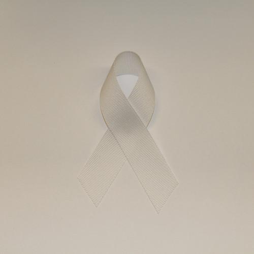 """7/8"""" Grosgrain Ribbon White"""