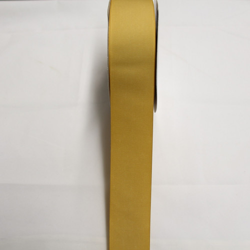 "Size     : 2 1/4"" Color    : Antique Gold Type    : Grosgrain  Length : 50 yard/spool"
