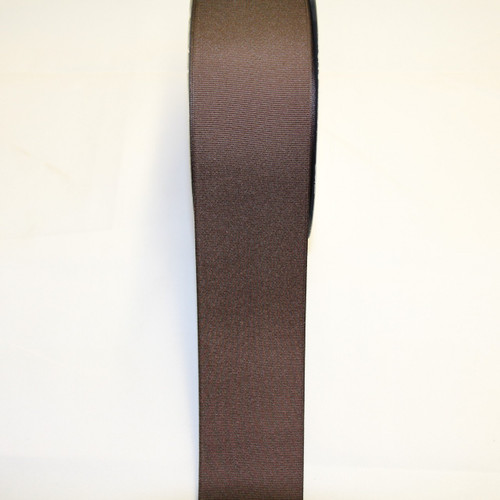 "Size     : 2 1/4"" Color    : Brown Type    : Grosgrain Length : 50 yard/spool"