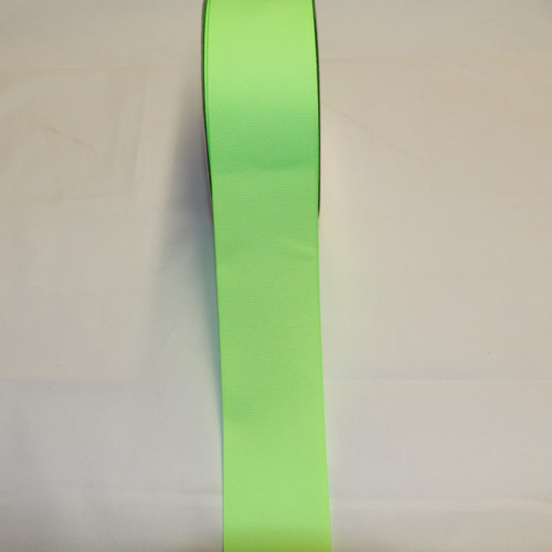 "Size     : 2 1/4"" Color    : Neon Lime Type    : Grosgrain Length : 50 yard/spool"