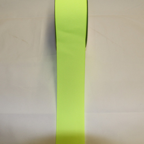 "Size     : 2 1/4"" Color    : Neon Yellow Type    : Grosgrain Length : 50 yard/spool"