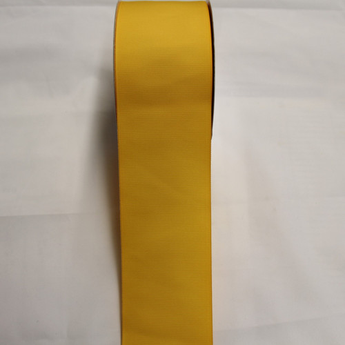 "Size     : 3"" Color    : Lt. Gold Type    : Grosgrain Length : 50 yard/spool"