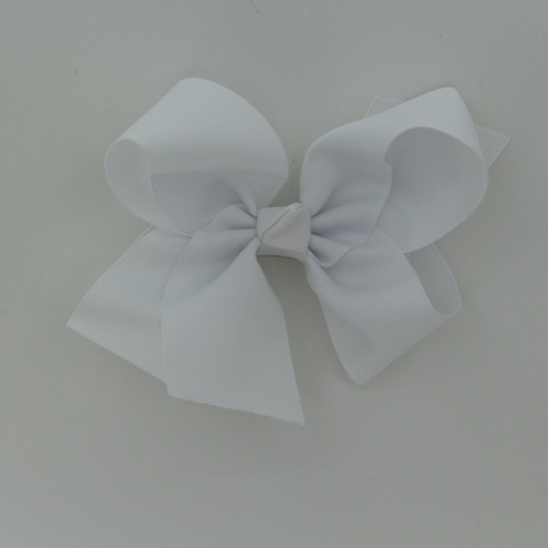 "Item no.       : egch, Color           : White Center         : Cone Size             : 7.5""X6"" Ribbon Size: 2 1/4"" Type of Clip : French Clip Made in USA"
